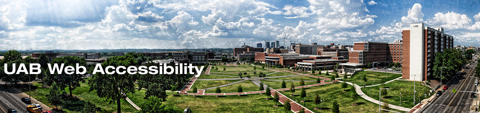 banner image of UAB campus green