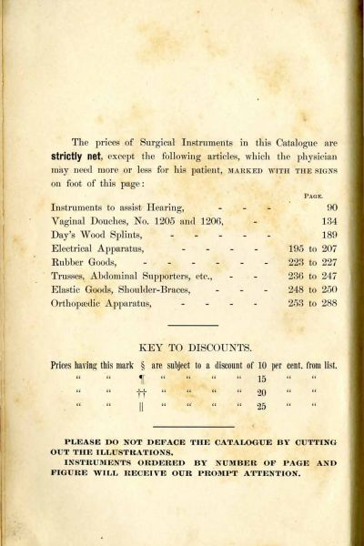 Feick Bros  Catalogue of Surgical Instruments - Alabama