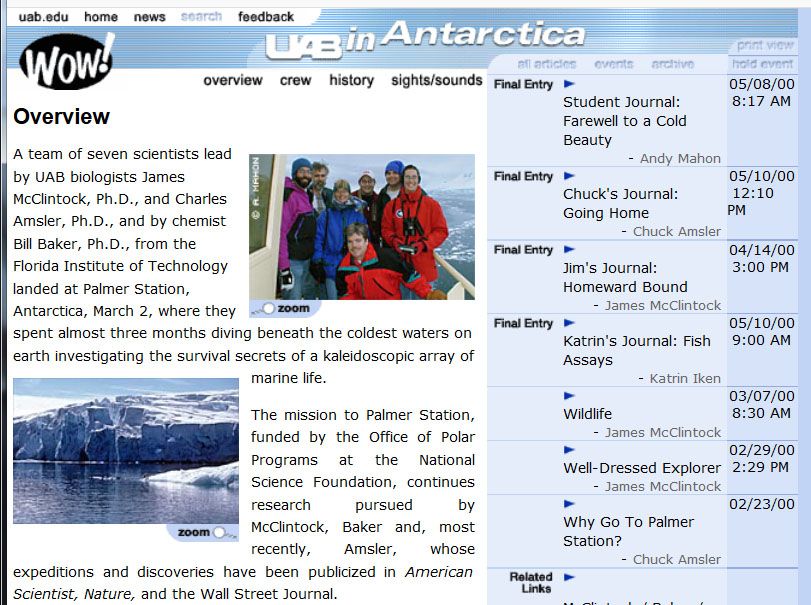 uab in antarctica, in the year two thousand