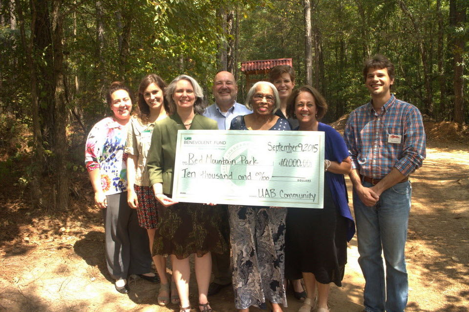 Check Presentation at Red Mountain park
