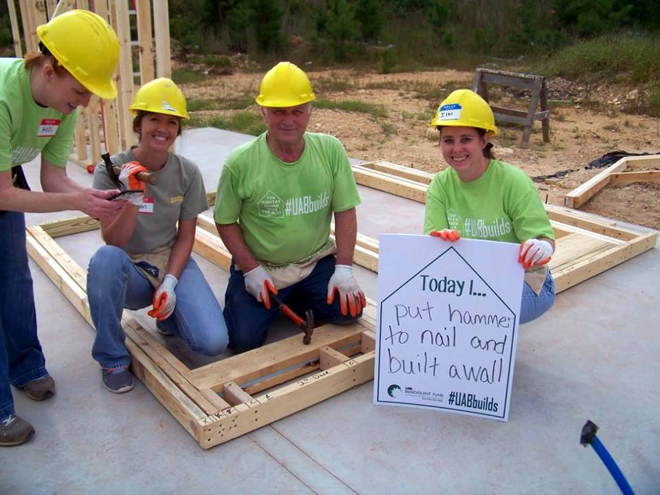 Volunteers begin work on the 2015 UAB Habitat House
