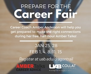 Amber Talks Career Fair
