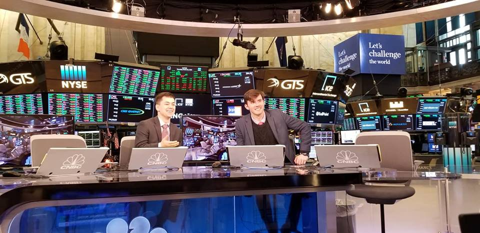 GGF Students behind CNBC desk