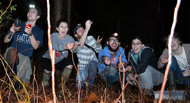 UAB Department of Biology Students in the Field