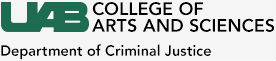 UAB Department of Criminal Justice logo.