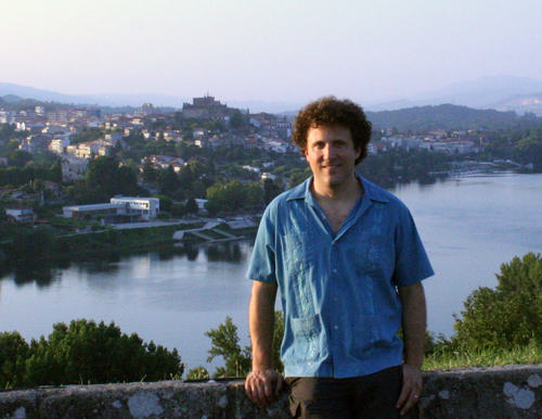 Moore on the trail of José Soller, mulatto pilgrim and priest impersonator - Tuy, Spain as seen from Valença, Portugal.