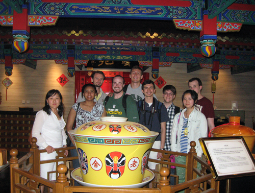 UAB students on a study abroad trip to China.