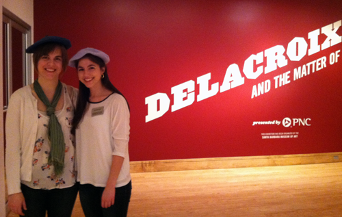 Students at the Delacroix exhibit at the Birmingham Museum of Art.
