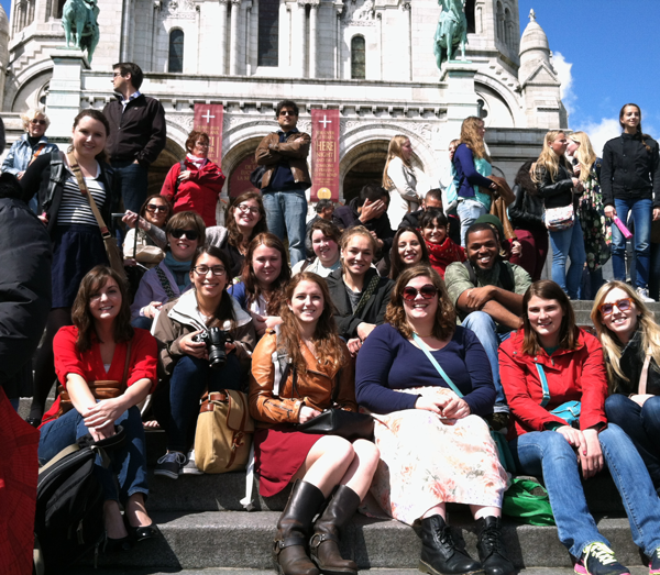 UAB students studying abroad in France.