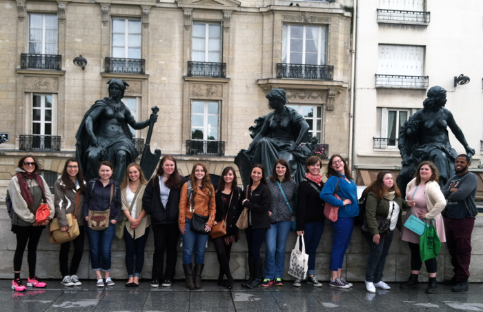 UAB students in France.