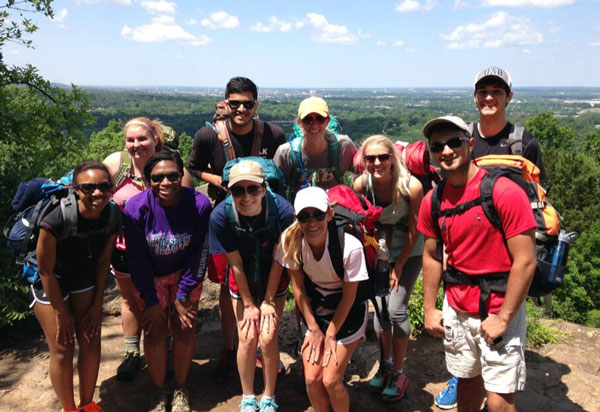 UAB Spanish students on a study abroad trip.