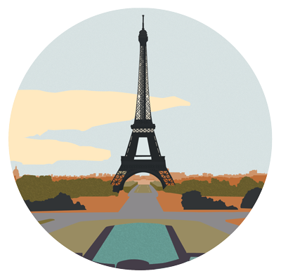 Illustration of the Eifel Tower.