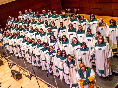 This is a photo of the UAB Gospel Choir.