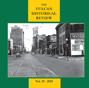 Cover of VHR 2015, featuring a picture of old Birmingham.