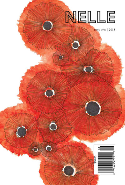 Cover of the 2018 issue of Nelle, featuring illustrated poppy flowers.