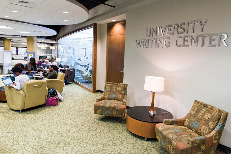The University Writing Center at Mervyn H. Sterne Library.