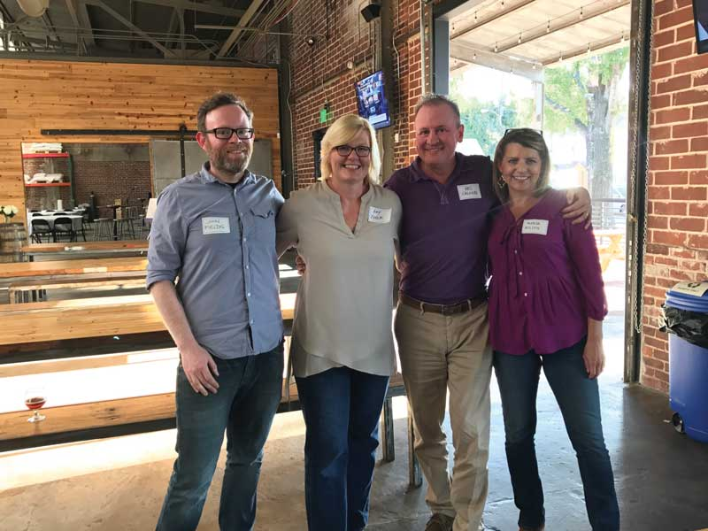 CAS Alumni Night Cahaba Brewing John Fields Amy Royer Wes Calhoun Teresa Wilson