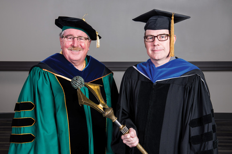 Summer Commencement Dean Robert Palazzo And Heith Copes