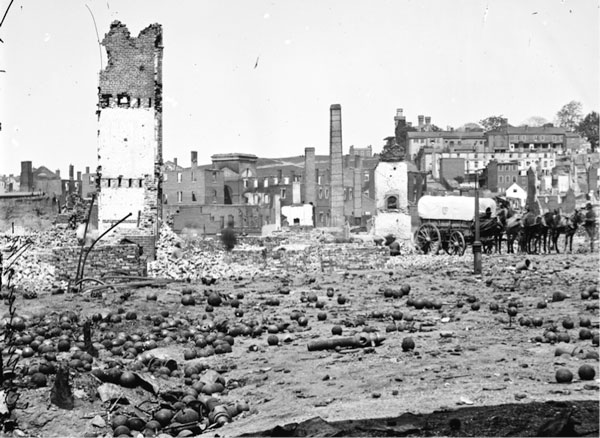 Richmond, Virginia, after the Civil War. Image courtesy of the Library of Congress.
