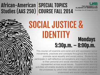 Poster for Social Justice & Identity class (click for pdf).