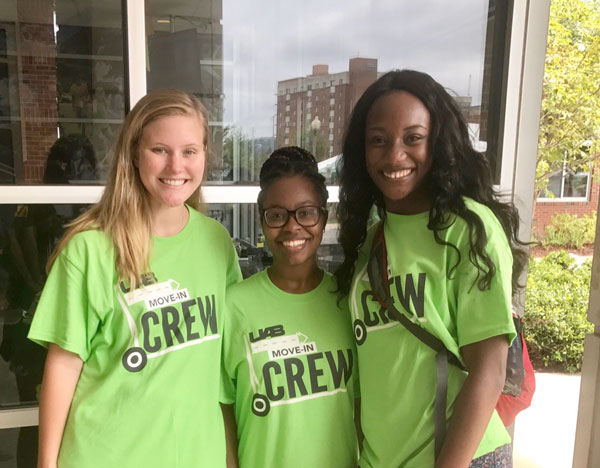 on august 26 2017 three student social work organization sswo officers volunteered to help on the freshmen move in day