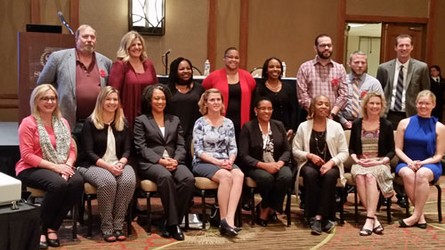 Group photo of UAB Social Work faculty and other Social Work educators at CSWE annual program meeting.