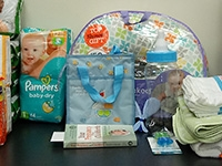 Students collect baby items