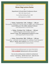 Department of Social Work Academic Lecture Series and Brown Bag Lecture Series