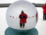 Biology Professor Chuck Amsler at the South Pole