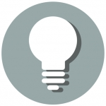 Illustration of a lightbulb.