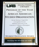 African American Student Organization Receives Honor
