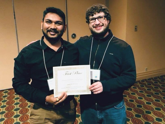 Master's students win Best Graduate Paper at 2018 ACM Mid-Southeast conference