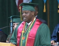 Watch Martez Files Deliver the Fall 2014 Commencement Speech