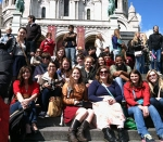 DFLL students on a study away trip to France.