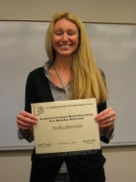 DFLL Student Molly Morrison Wins AAFLT Joanna B. Crane Scholarship for Study Abroad