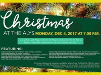 "Choirs sing in the holiday season at ""Christmas at the Alys"" on Dec. 4"