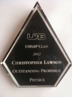 UAB EMSAP Class of 2012 Votes Dr. Chris Lawson Outstanding Professor in Physics