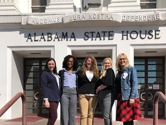 Department of Social Work Students and Faculty attend Alabama Arise's Legislative Day
