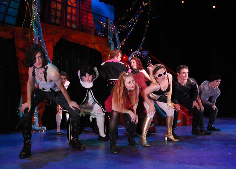 Group of UAB theatre students performing rocky horror picture show.