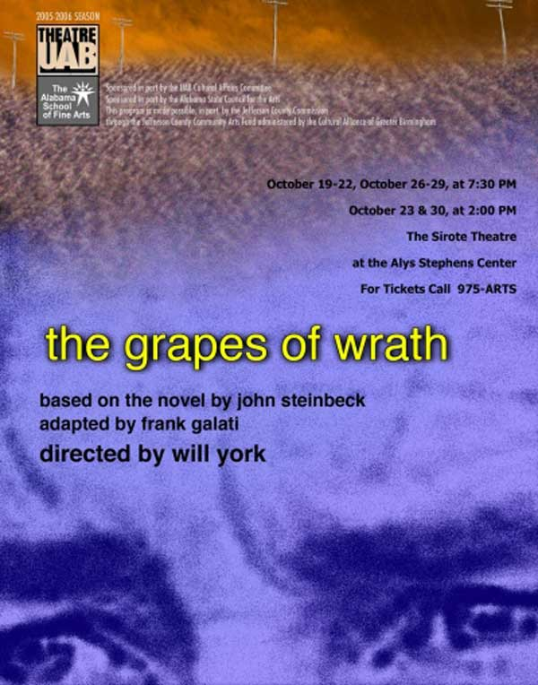 The Grapes of Wrath poster.