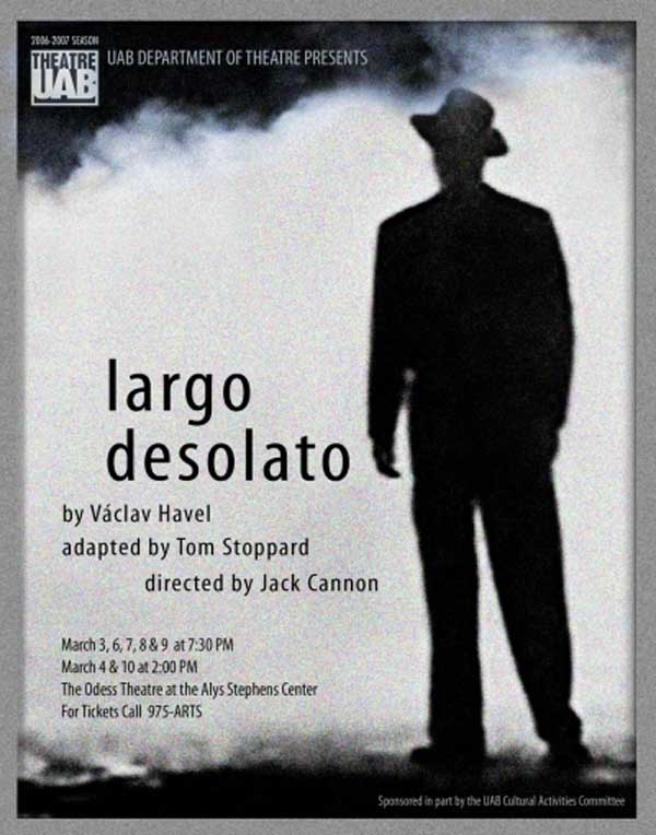 Largo Desolato poster.