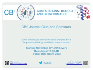 Invite to attend CB2 Journal Club