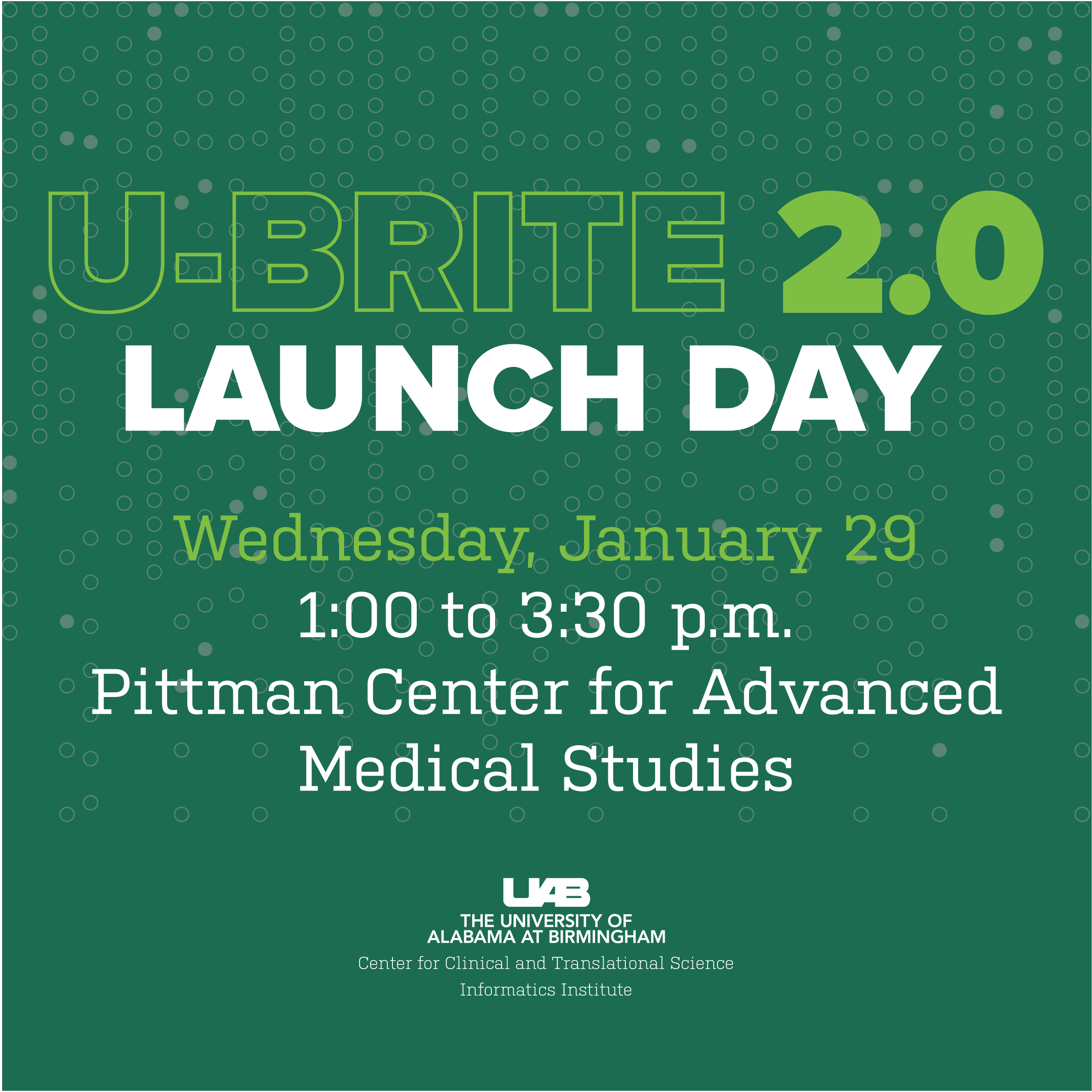 Calling All Research Teams: U-BRITE 2.0 Launch Day is January 29th!