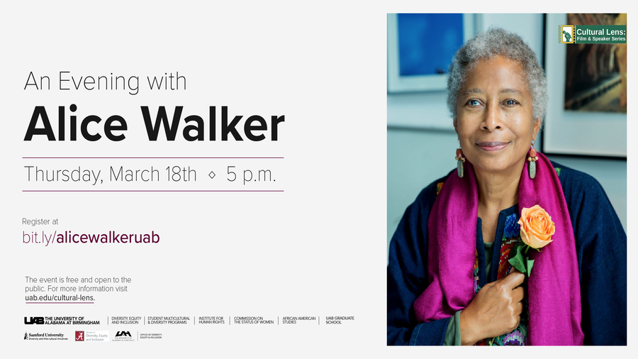 Photo of author Alice Walker