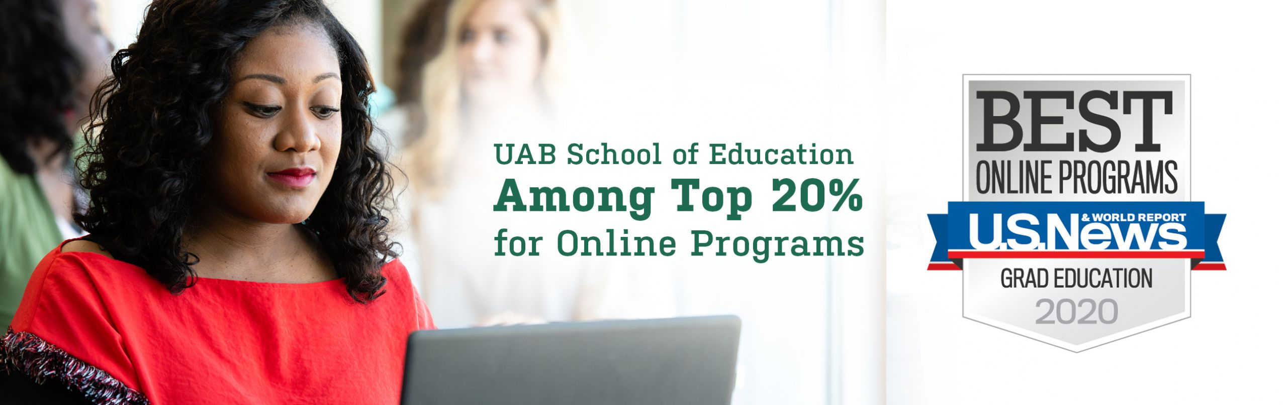 UAB School of Education Among Top 20% for Online Programs