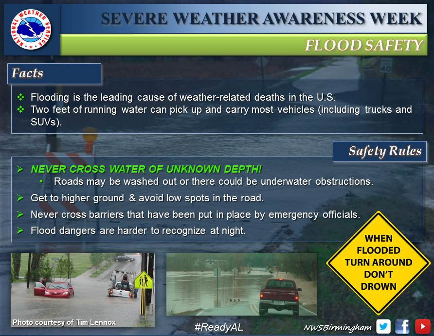 Uab Occupational Health Amp Safety 2015 Severe Weather Awareness Week Flooding Amp Flash Flooding