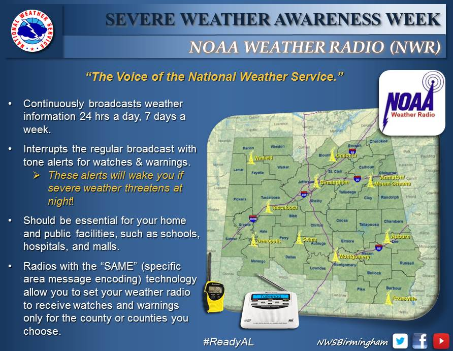 ... Safety - 2015 Severe Weather Awareness Week - Receiving Weather Alerts