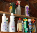 storing cleaning supplies image