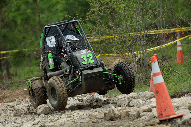 An off-road vehicle built by UAB students for the Baja SAE challenge.