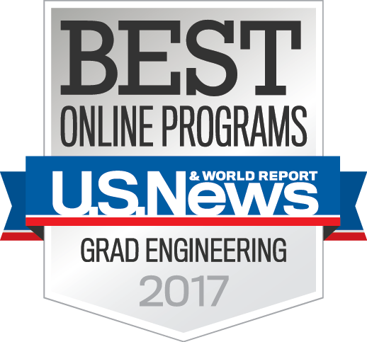 US News and World Report Best Online Graduate Engineering Program logo.